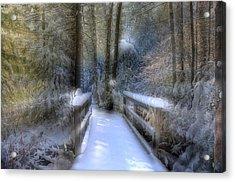 Winter Light On Bridge Acrylic Print