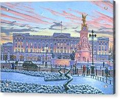 Winter Lights Buckingham Palace Acrylic Print by Richard Harpum