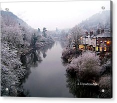 Winter Lights In Ironbridge Acrylic Print
