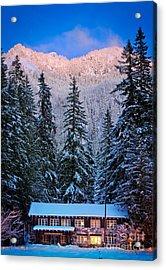 Winter Lodging Acrylic Print by Inge Johnsson