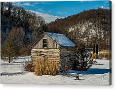 Winter Logcabin Acrylic Print by Paul Freidlund