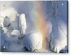 Winter Magic In Niagara Acrylic Print by Magda  Bognar