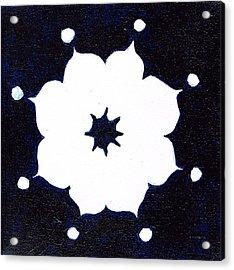 Winter Mandala Acrylic Print