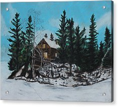 Winter Marshland Acrylic Print
