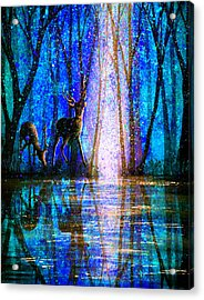 Winter Melody Acrylic Print by Ann Marie Bone