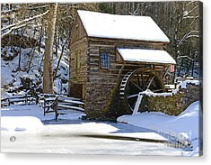 Winter Mill Acrylic Print by Paul Ward