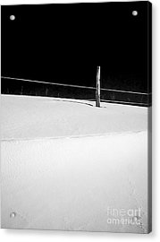 Winter Minimalism Black And White Acrylic Print by Edward Fielding