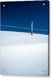 Winter Minimalism Acrylic Print by Edward Fielding