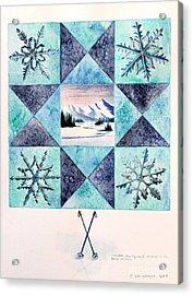 Winter Montana/ohio Square. Full Picture Acrylic Print by Gina Gahagan