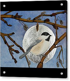 Winter Moon Acrylic Print by Amy Reisland-Speer