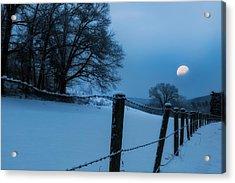 Winter Moon Acrylic Print by Bill Wakeley