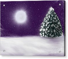 Winter Moon Acrylic Print by Roxy Riou