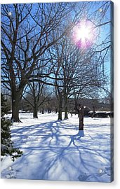 Winter Morning Boston Back Bay  Acrylic Print