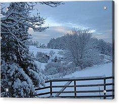 Blue Ridge Mountain Snowy Morning Acrylic Print