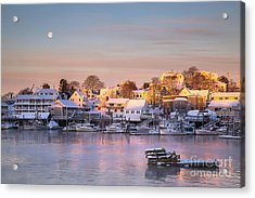 Winter Morning In Boothbay Harbor Acrylic Print