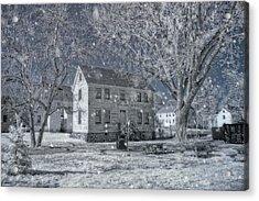 Winter Morning - Strawbery Banke - Portsmouth Nh Acrylic Print by Joann Vitali