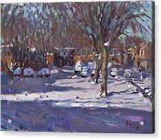 Winter Morning Acrylic Print by Ylli Haruni