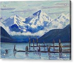 Winter Mountains Alaska Acrylic Print