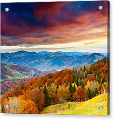 Acrylic Print featuring the photograph Winter Mountains Landscape by Boon Mee