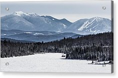 Winter Mountains Acrylic Print