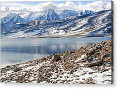 Winter Mt. Timpanogos And Deer Creek Reservoir Acrylic Print