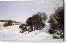 Winter Near The Sea Acrylic Print by Janus la Cour
