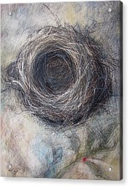 Winter Nest Acrylic Print by Tonja  Sell
