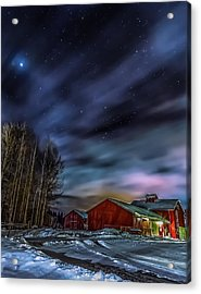 Acrylic Print featuring the photograph Winter Night by Rose-Maries Picturtes