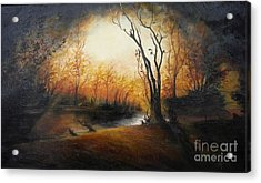 Winter Night Acrylic Print by Sorin Apostolescu