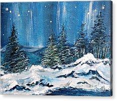 Winter Night Acrylic Print by Teresa Wegrzyn