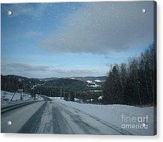 Winter Norhtern Maine Acrylic Print by Kristine Bailey
