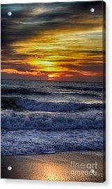 Winter North Carolina Sunrise Acrylic Print by Tony Cooper