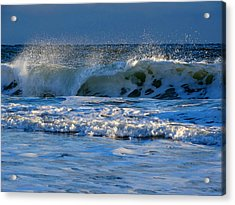 Winter Ocean At Nauset Light Beach Acrylic Print
