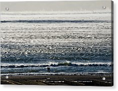 Winter Ocean Rockaway Beach Acrylic Print
