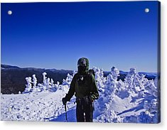 Winter On Mt Jackson Acrylic Print