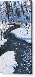 Winter On Penns Creek Acrylic Print