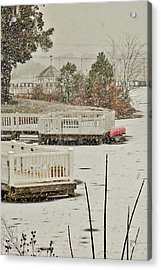 Winter On Silver Lake - Rehoboth Delaware Acrylic Print