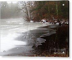 Winter On Tarklin Pond Acrylic Print