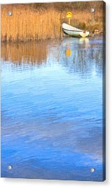 Winter On The Corrib In Galway Acrylic Print by Mark Tisdale