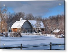 Acrylic Print featuring the photograph Winter On The Farm 14586 by Guy Whiteley