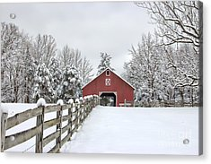 Winter On The Farm Acrylic Print