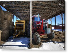 Winter On The Farm Acrylic Print by Eric Gendron