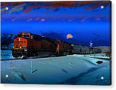 Winter On The Joint Line Of Colorado Acrylic Print by J Griff Griffin