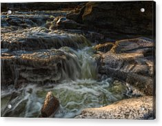 Winter On The Rocky River 1 Acrylic Print