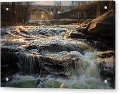 Winter On The Rocky River Acrylic Print