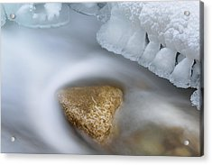 Winter Orangeville Creek Acrylic Print by Dean Pennala