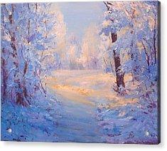 Winter Path. Acrylic Print by Julia Utiasheva