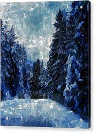 Winter Piny Forest Acrylic Print by Georgi Dimitrov