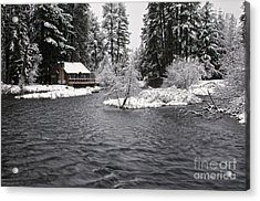 Winter Postcard Acrylic Print