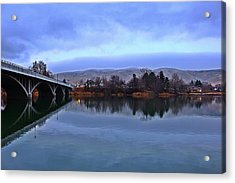 Acrylic Print featuring the photograph Winter Reflection by Lynn Hopwood